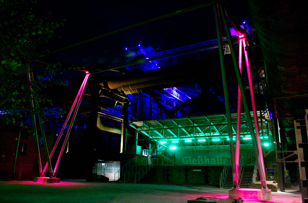 Nachtfotografie Landschaftspark Duisburg