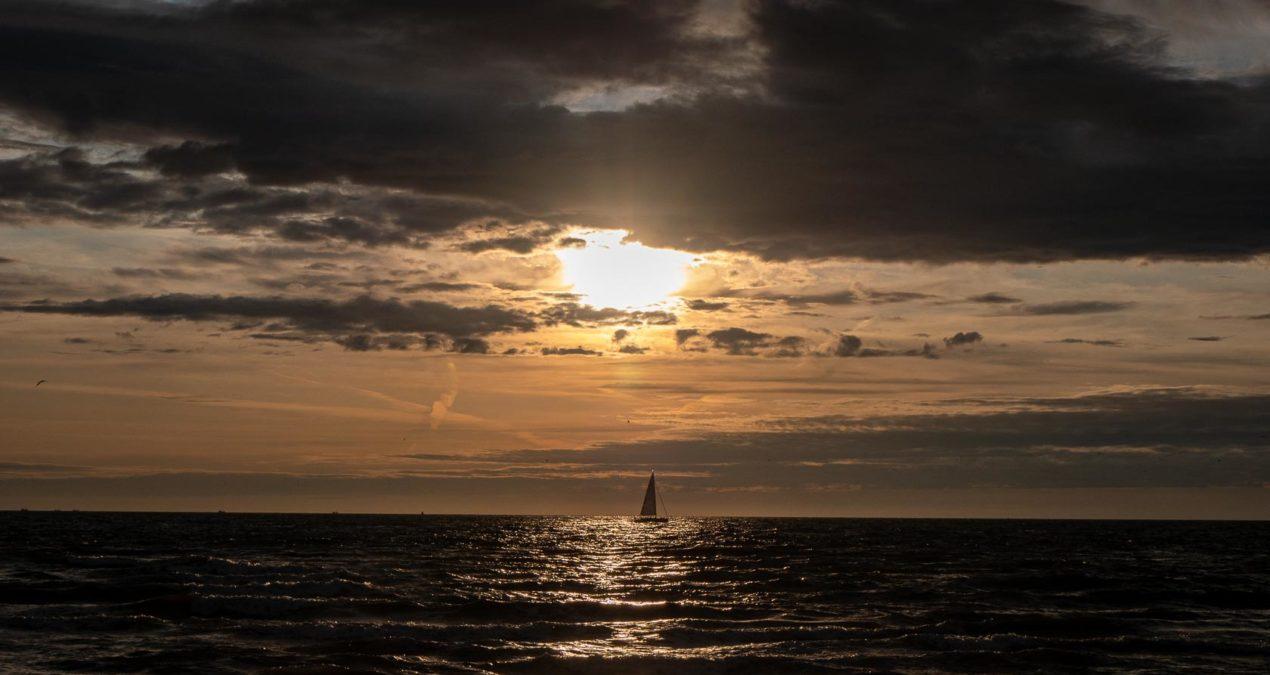 Der Strand von Den Helder am Abend