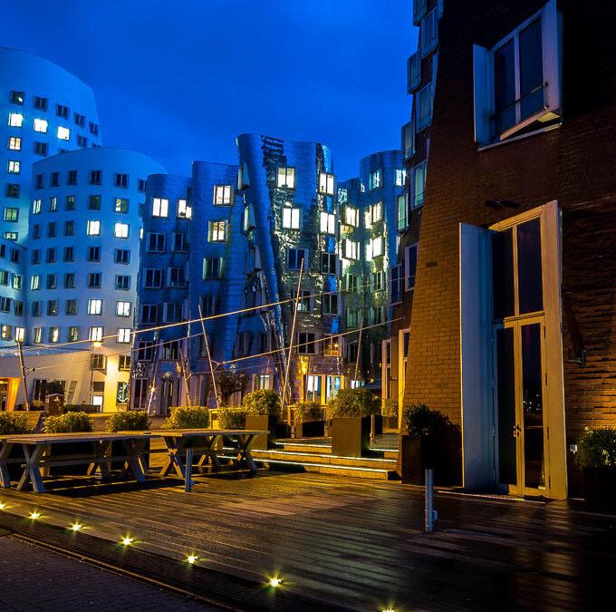 Nachtfotografie im Medienhafen