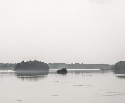 spät Nachmittags am Unterbacher See